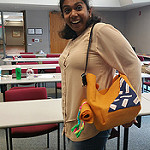 Kamya wearing an amazing prototype!