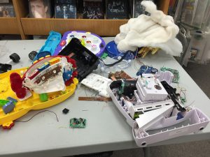 A sample of the glorious, educational mess from the Coopersville MakerFest.