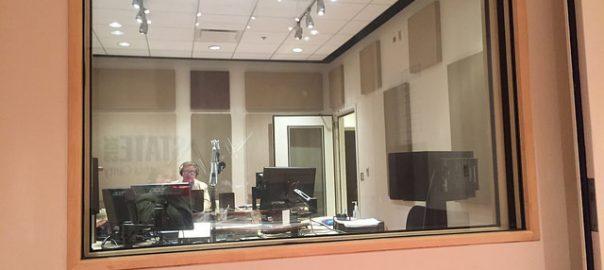 Photo of production room at Michigan Radio